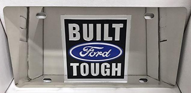 Built Ford Tough vanity license plate car tag
