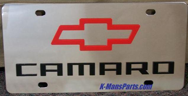 Chevrolet Camaro stainless steel vanity tag