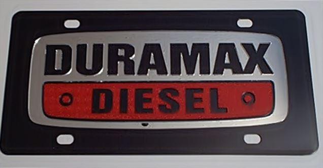Chevrolet Duramax Diesel emblem C/S plate