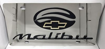 Chevrolet Malibu stainless steel license plate tag