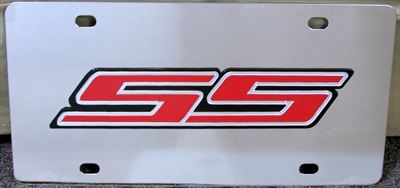 Chevrolet SS Super Sport red vanity license plate car tag