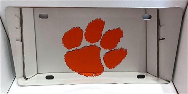Clemson Tigers paw vanity license plate car tag