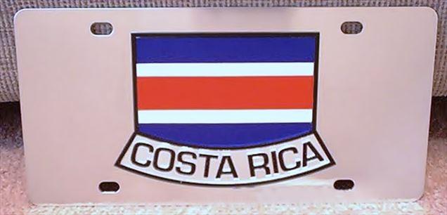 Costa Rica flag vanity license plate