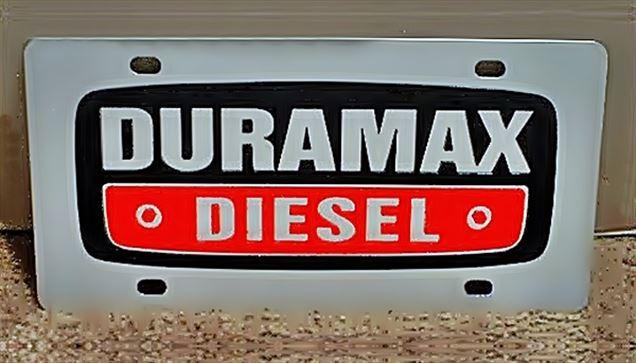 Chevrolet Duramax Diesel emblem stainless steel license plate