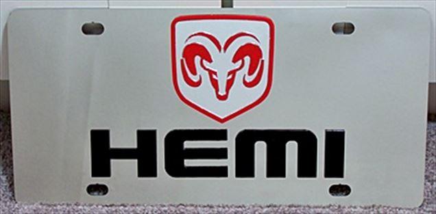 Dodge Ram Hemi vanity license plate car tag