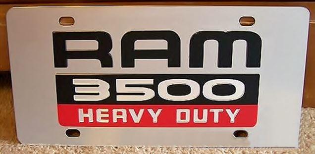 Dodge Ram 3500 Heavy Duty vanity license plate car tag