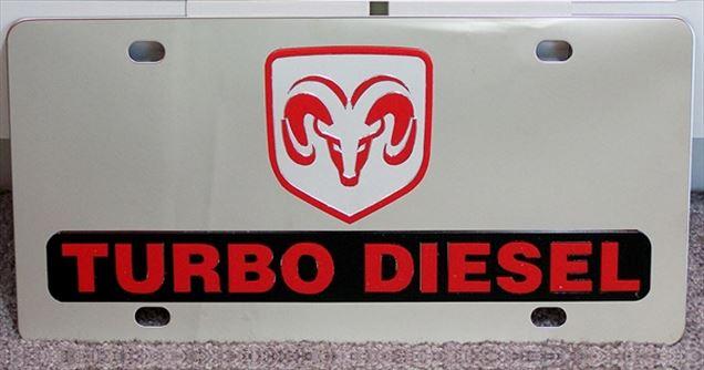 Dodge Ram Turbo Diesel vanity license plate car tag