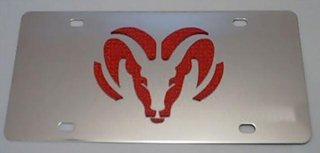 Dodge Ram Red vanity license plate car tag