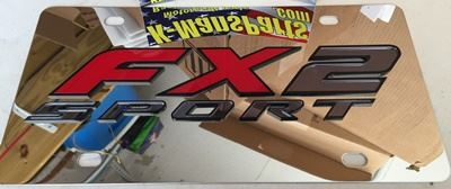 FX2 Sport vanity plate