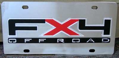 FX4 Off Road 2009 logo stainless steel plate