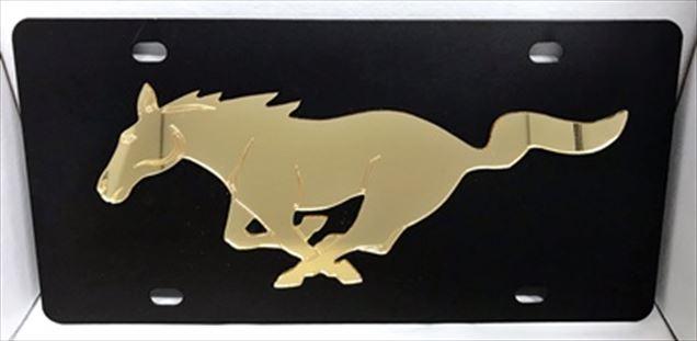 Mustang Pony vanity license black plate