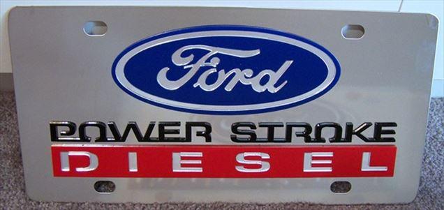 Ford Power Stroke Diesel vanity license plate