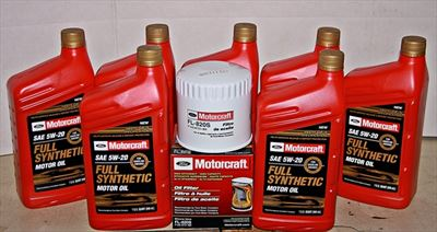 Motorcraft 7qt 5W-20 Full Synthetic Oil change kit F-Series 5.4 6.2 6.8