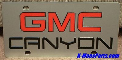 GMC Canyon (red/black) S/S plate