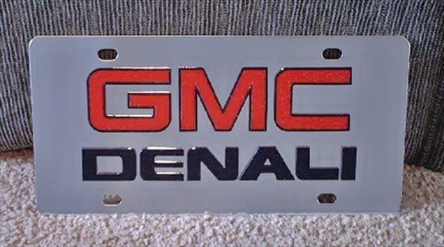 GMC Denali (red/black) S/S plate
