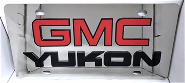 GMC Yukon vanity license plate tag