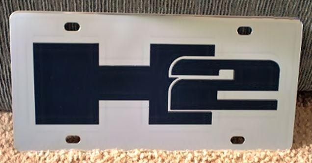 Hummer H2 emblem Black vanity license plate