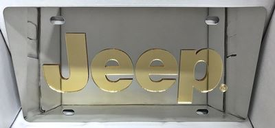 JEEP Gold stainless steel license plate tag