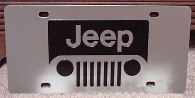 JEEP Grill logo vanity license plate tag