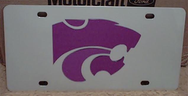 Kansas State Wildcats vanity license plate car tag