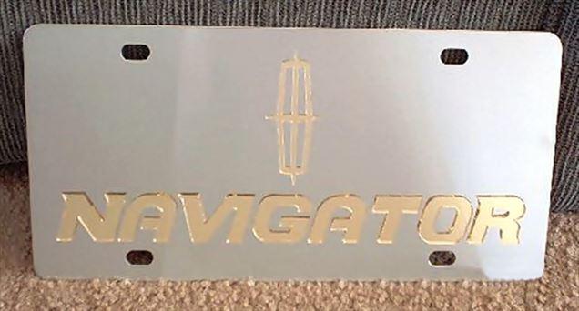 Lincoln Navigator vanity license plate tag