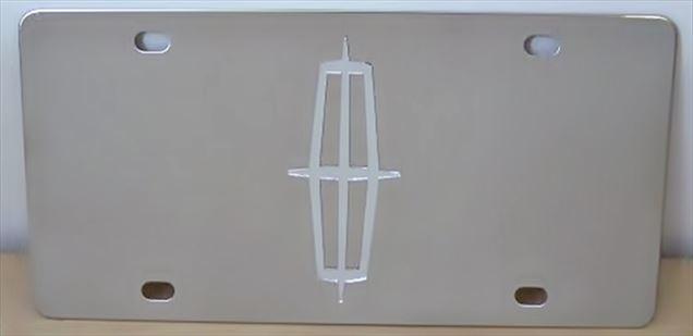 Lincoln emblem mirror vanity license plate
