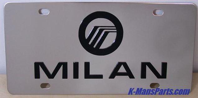 Mercury Milan black stainless steel plate