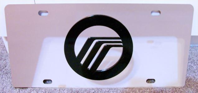 Mercury emblem vanity license plate tag