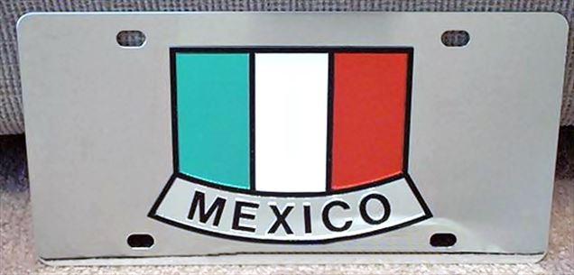 Mexico flag vanity license plate tag