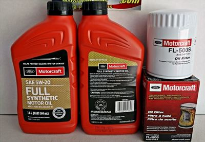 Motorcraft 10qt 5W-20 Full Synthetic Oil change kit Mustang GT 5.0 4v