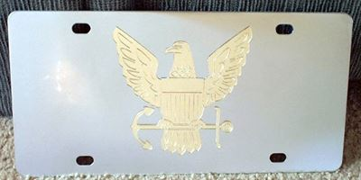 US Navy gold vanity license plate car tag