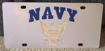 US Navy vanity license plate car tag