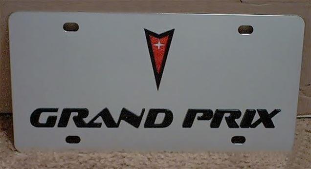 Pontiac Grand Prix stainless steel license plate
