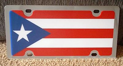 Puerto Rico flag vanity license plate