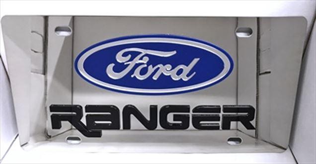Ford Ranger black vanity license plate car tag
