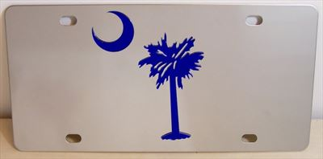 South Carolina flag blue vanity license plate car tag