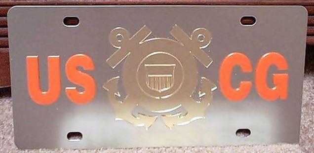 US Coast Guard USCG vanity license plate car tag