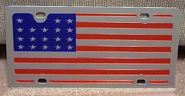 US American flag vanity license plate car tag