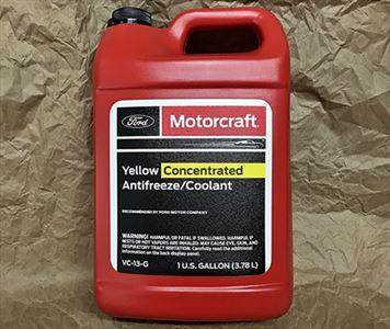 Motorcraft Yellow anti-freeze engine coolant system VC13G