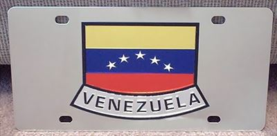 Venezuela vanity flag license plate tag
