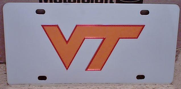 Virginia Tech Hokies vanity license plate car tag