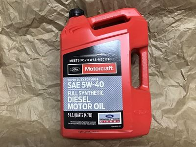Motorcraft 5W-40 Full Synthetic Diesel Motor Oil 5 quart