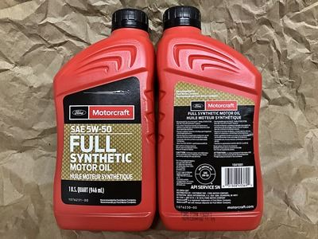 Motorcraft 5W-50 Full Synthetic Motor Oil XO-5w50-QGT quart