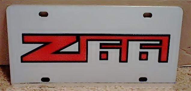 Chevrolet Z66 vanity license plate tag