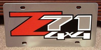 Chevrolet Z71 4x4 stainless steel plate