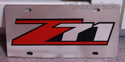 Chevrolet Z71 (red/mirror) S/S plate